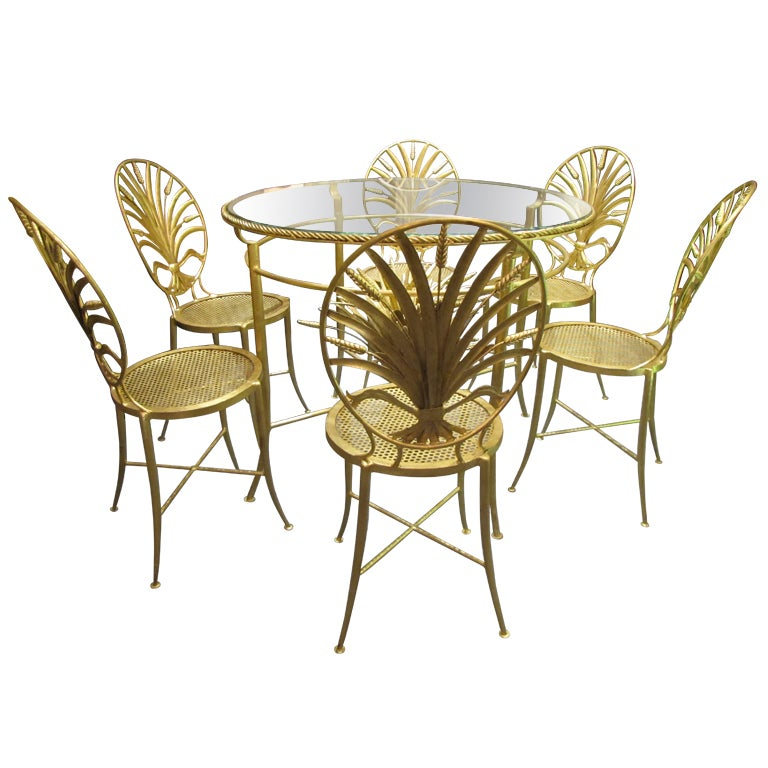 Set Of Table And Six Chairs By S. Salvadori. Firenze C. 1960 For
