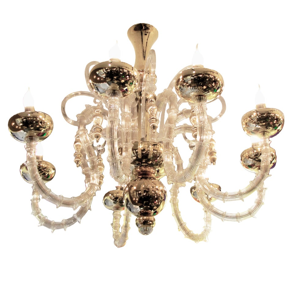 Beautiful Murano Chandelier For Sale at 1stdibs