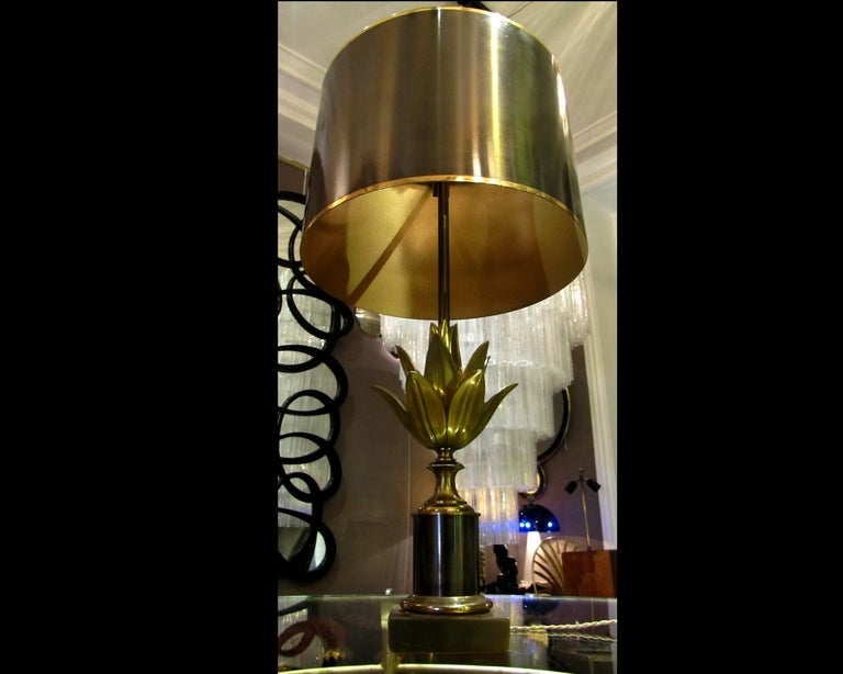 lotus lamp by maison charles paris at 1stdibs. Black Bedroom Furniture Sets. Home Design Ideas