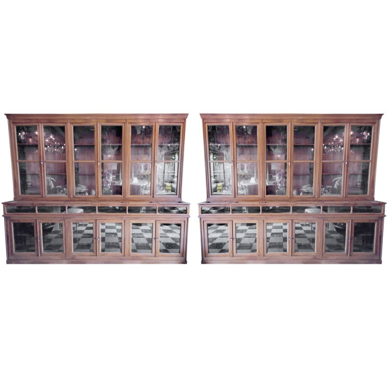 Two Rare 1900 S Pharmacy Display Cases At 1stdibs