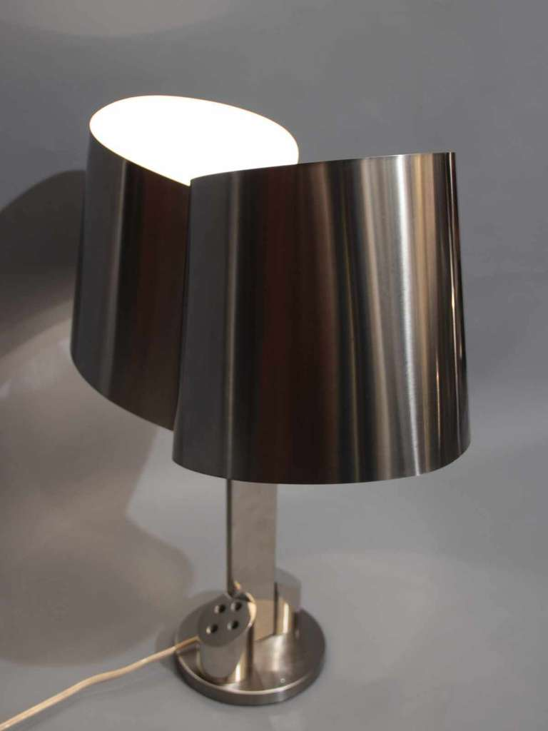 French 1970's desk lamp by Henri Mathieu For Sale