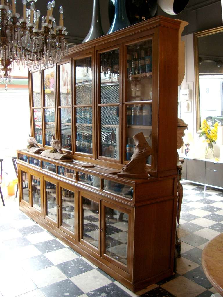 Beau French Two Rare 1900u0027s Pharmacy Display Cases.