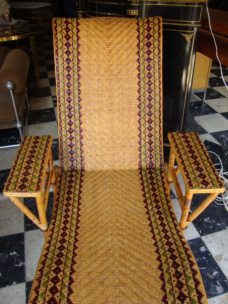 1880 1900s french rattan m ridienne at 1stdibs for Chaise longue rotin