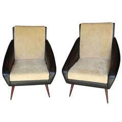 Two 1950's Italian armchairs