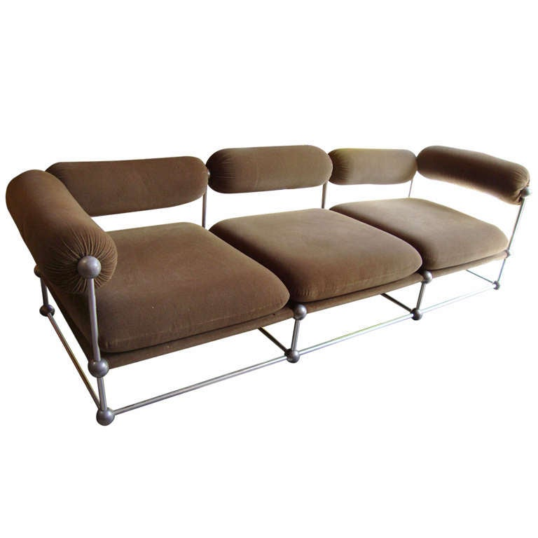 Interesting 1970 39 s living room set of one canap and two for Interesting armchairs