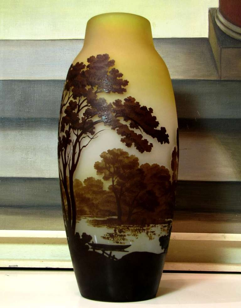 Large Vase By Emile Gall Ca 1900 At 1stdibs