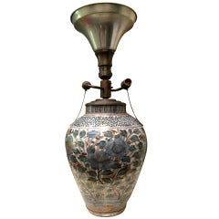 Imari Vase Mounted In Lamp