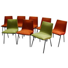 a rare set of 6 sycamore dining chairs by melchiorre bega at 1stdibs. Black Bedroom Furniture Sets. Home Design Ideas