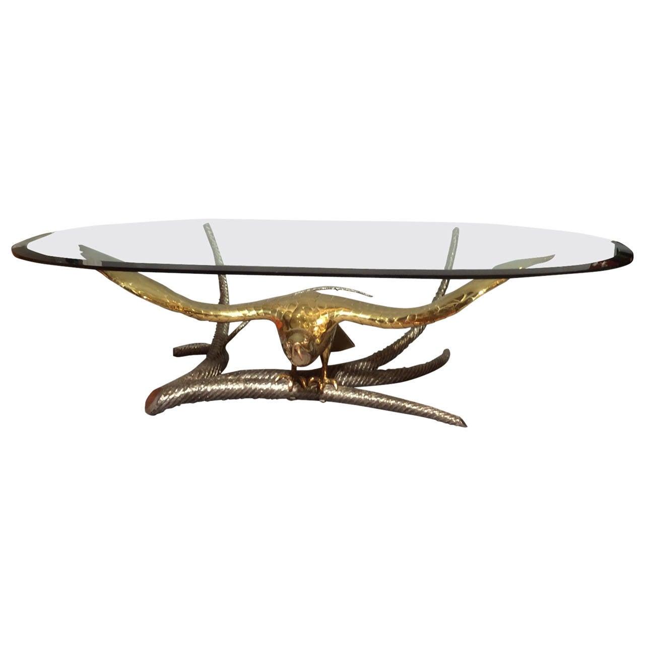 """""""Eagle"""" coffee table by Alain Chervet, France circa 1970"""