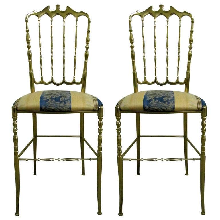 Two 1950 Italian Brass Chairs