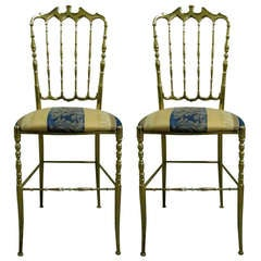Two 1950 Italian Brass Chairs