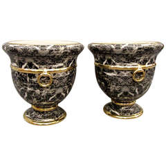 Pair of Cache Pots by Christian Dior, circa 1980