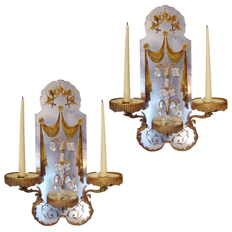 pair of 1940s maison bagu s wall lights for sale at 1stdibs. Black Bedroom Furniture Sets. Home Design Ideas