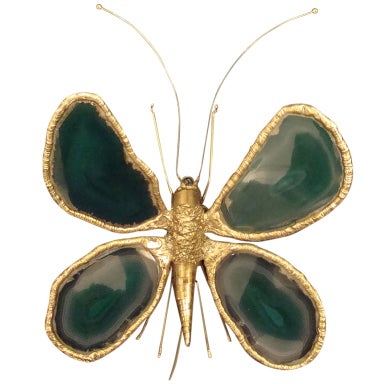Wall Night Light Target : Green Butterfly Wall Light. at 1stdibs