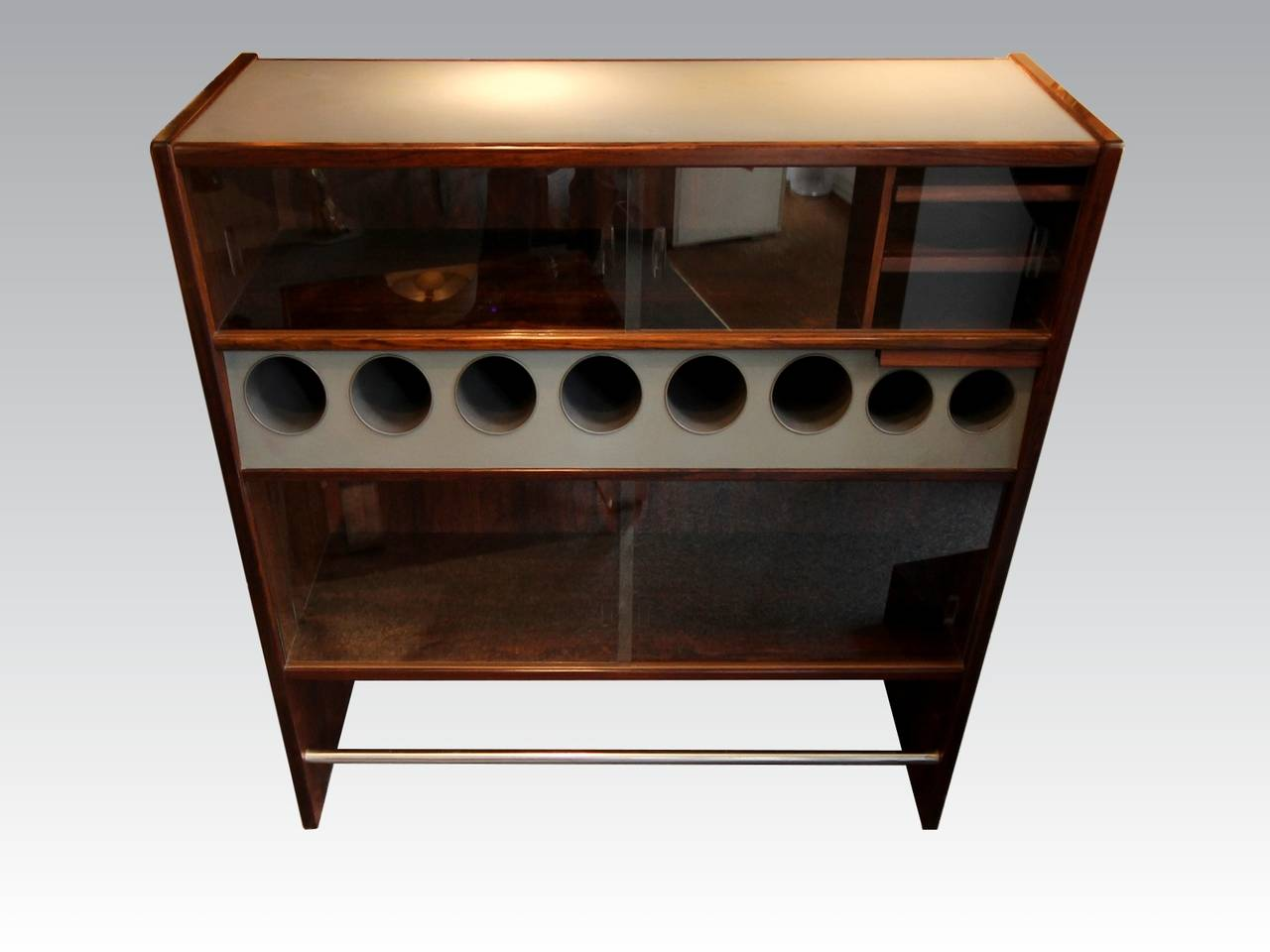 Danish Original 1960s Dry Bar by Erik Buch For Sale