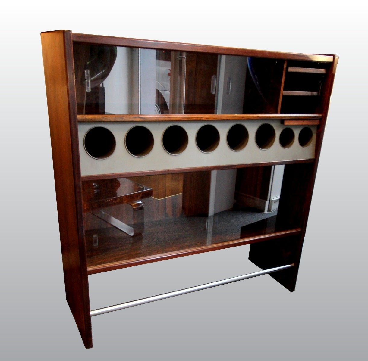 Original 1960s Dry Bar by Erik Buch In Good Condition For Sale In Paris, FR
