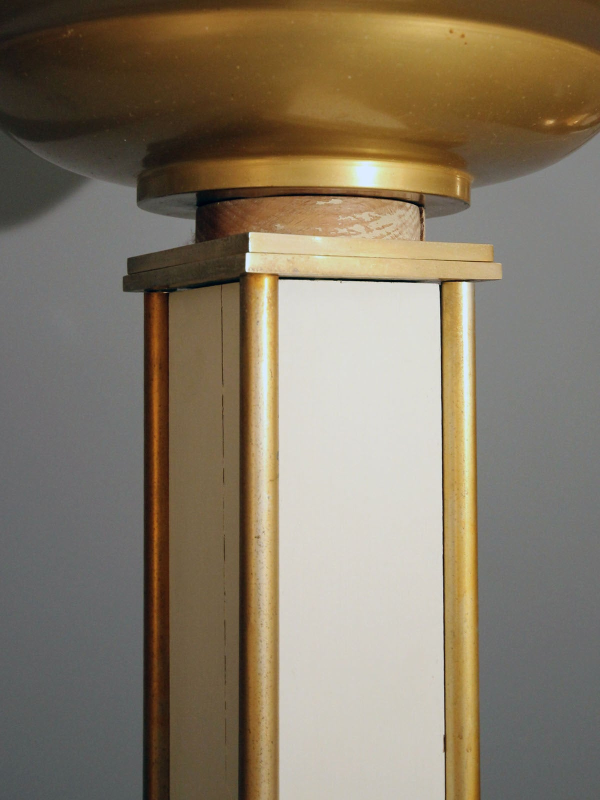 Brass 1940s Jacques Adnet Floor Lamp For Sale