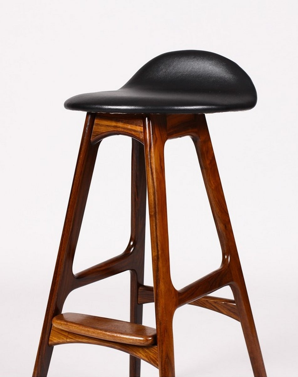 Two 1960s Original Bar Stools By Erik Buch At 1stdibs
