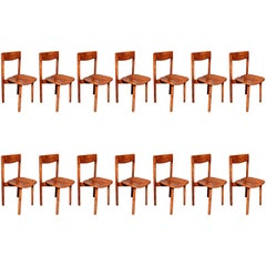Pierre Gautier Delaye, set of fourteen chairs, France circa 1960
