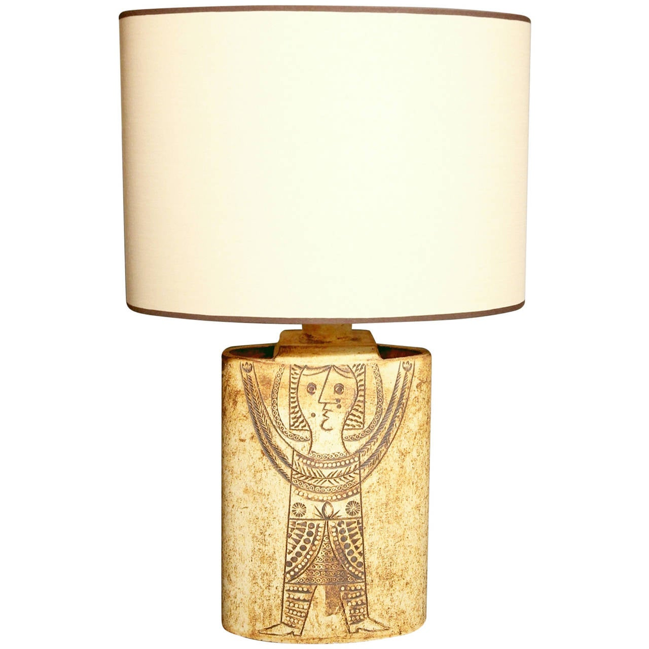 1960s Roger Capron Earthenware Table Lamp