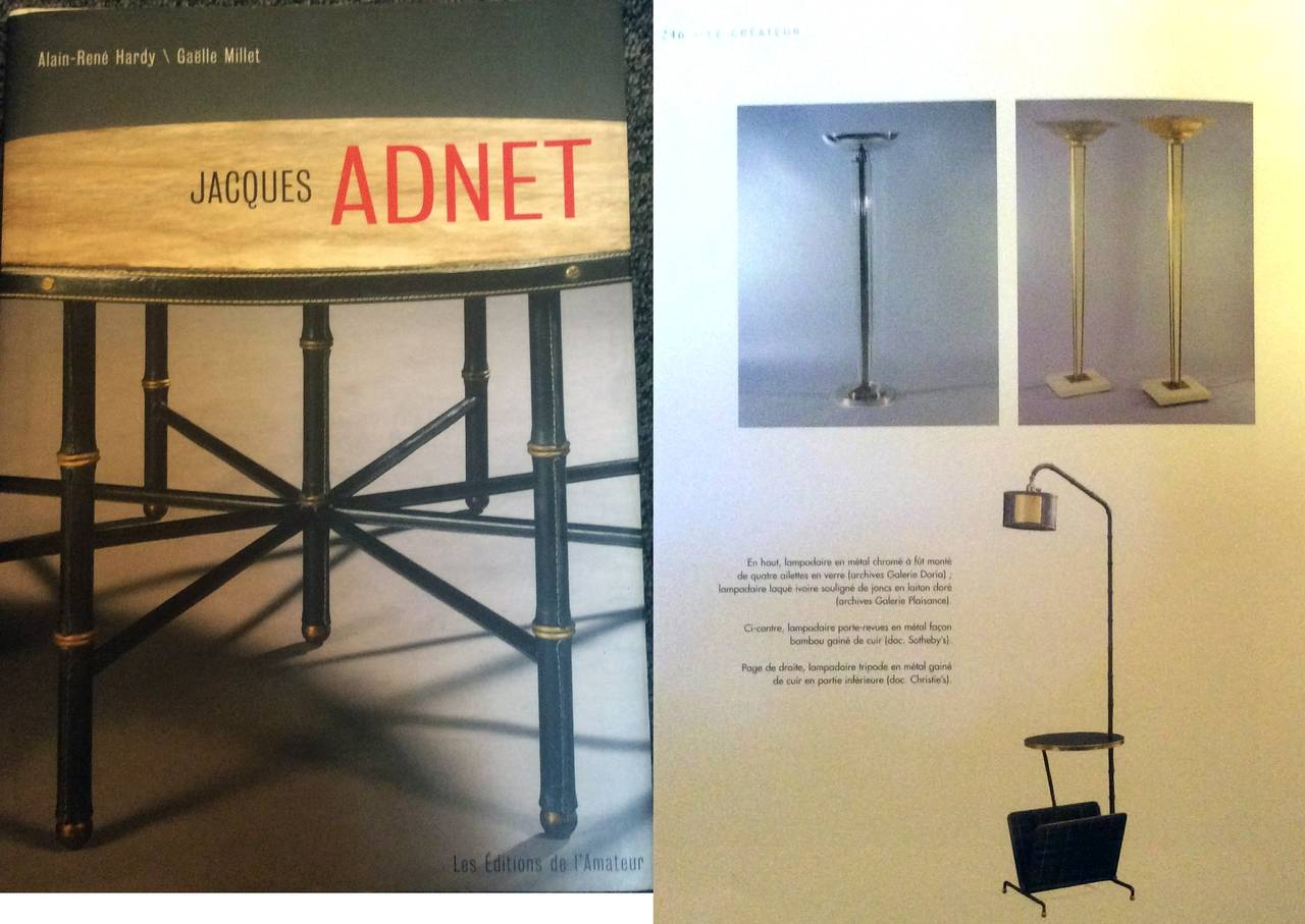 1940s Jacques Adnet Floor Lamp For Sale 2
