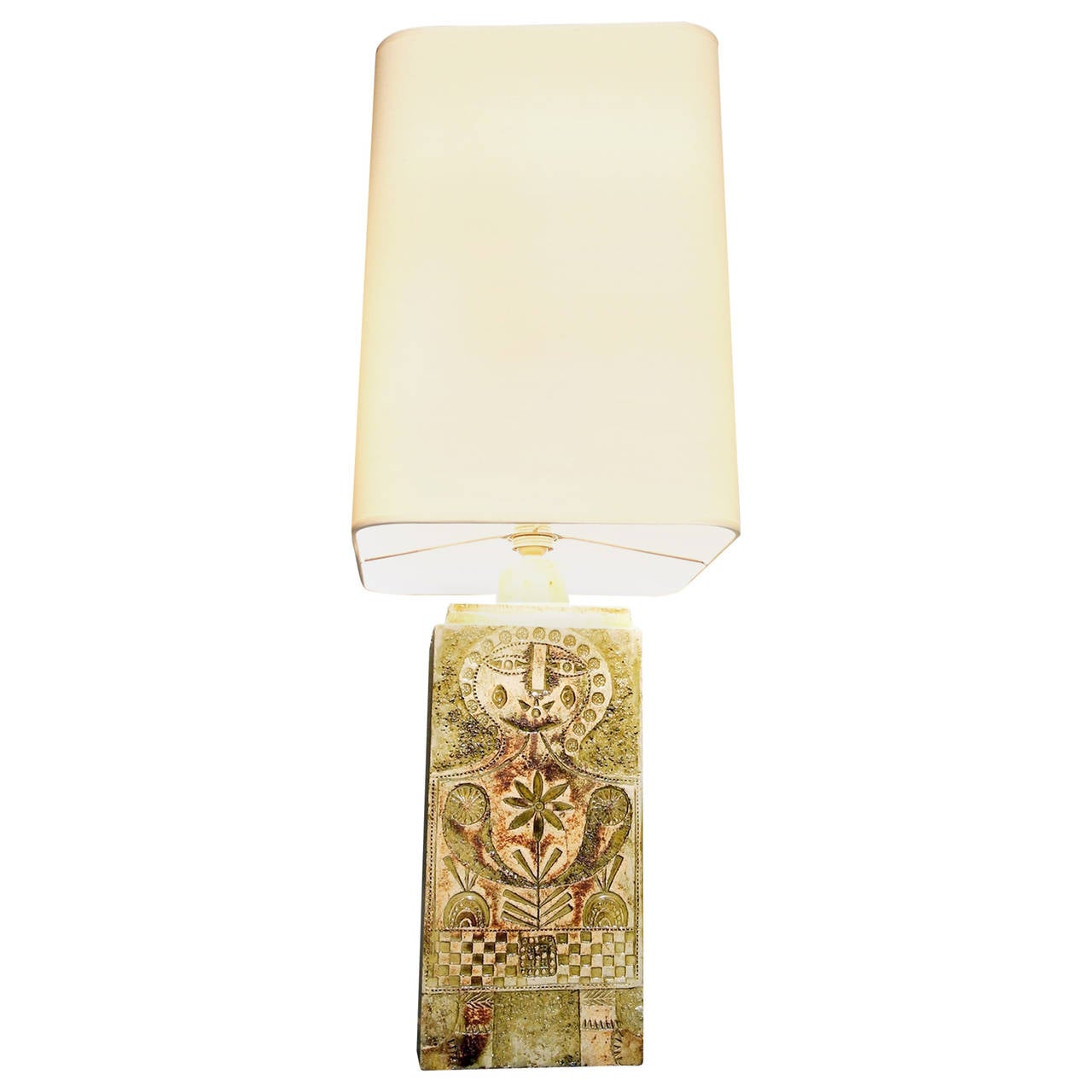 1960s Roger Capron Enameled Earthenware Table Lamp