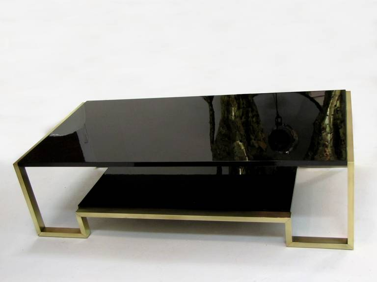 Nice 1970s Coffee Table In Brass And Black Lacquer At 1stdibs. Wall Makeup Mirror. Outdoor Fireplace Ideas. Bedroom Tv Mount. Reclaimed Wood Bar. Consol Table. Metal Bakers Rack. Coastal Dining Room. Unique Kitchen Tables