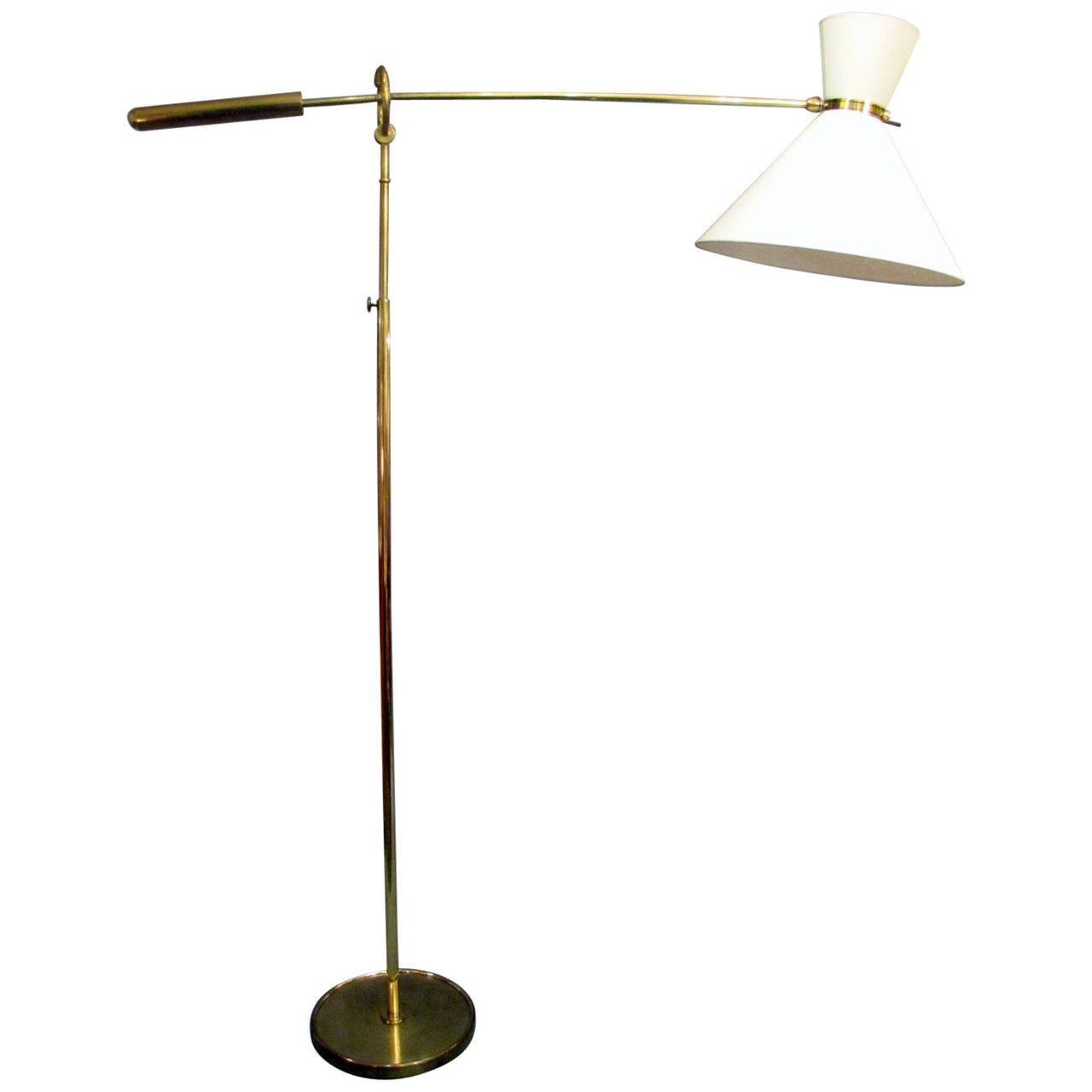 Lunel edition adjustable floor lamp france 1950s at 1stdibs for 1950s floor lamps