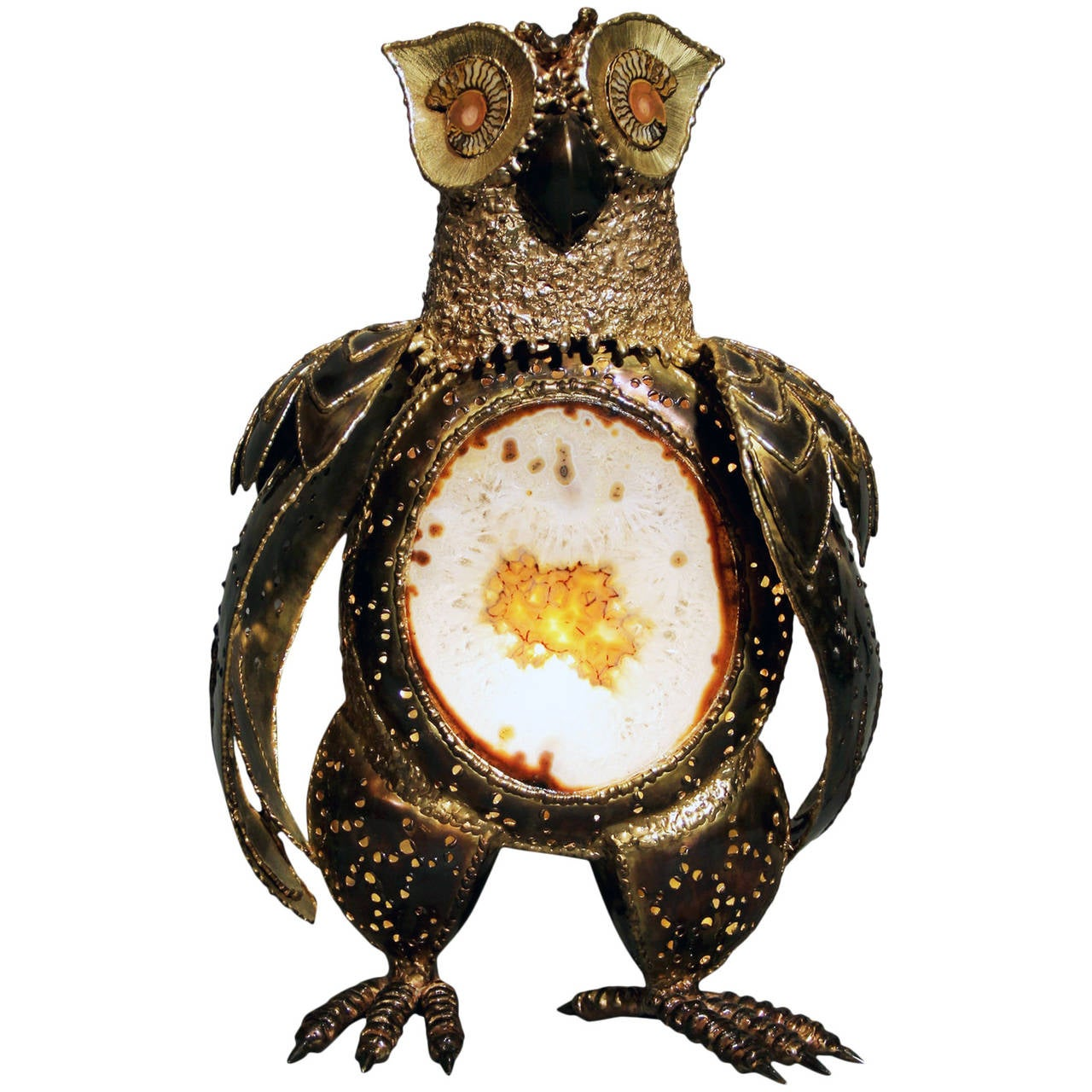 "Luminous Sculpture ""Owl"" by Richard Faure"