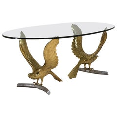 "Rare ""Eagles"" Dining Table by Alain Chervet"