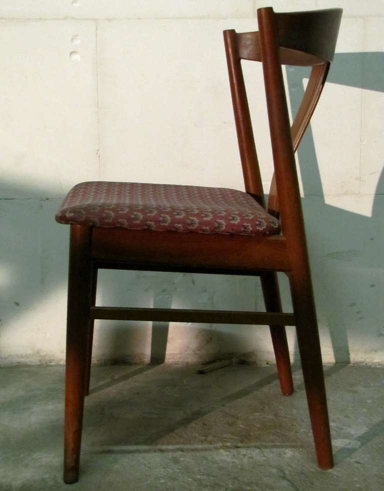set of six danish teak chairs 1950 period for sale at 1stdibs