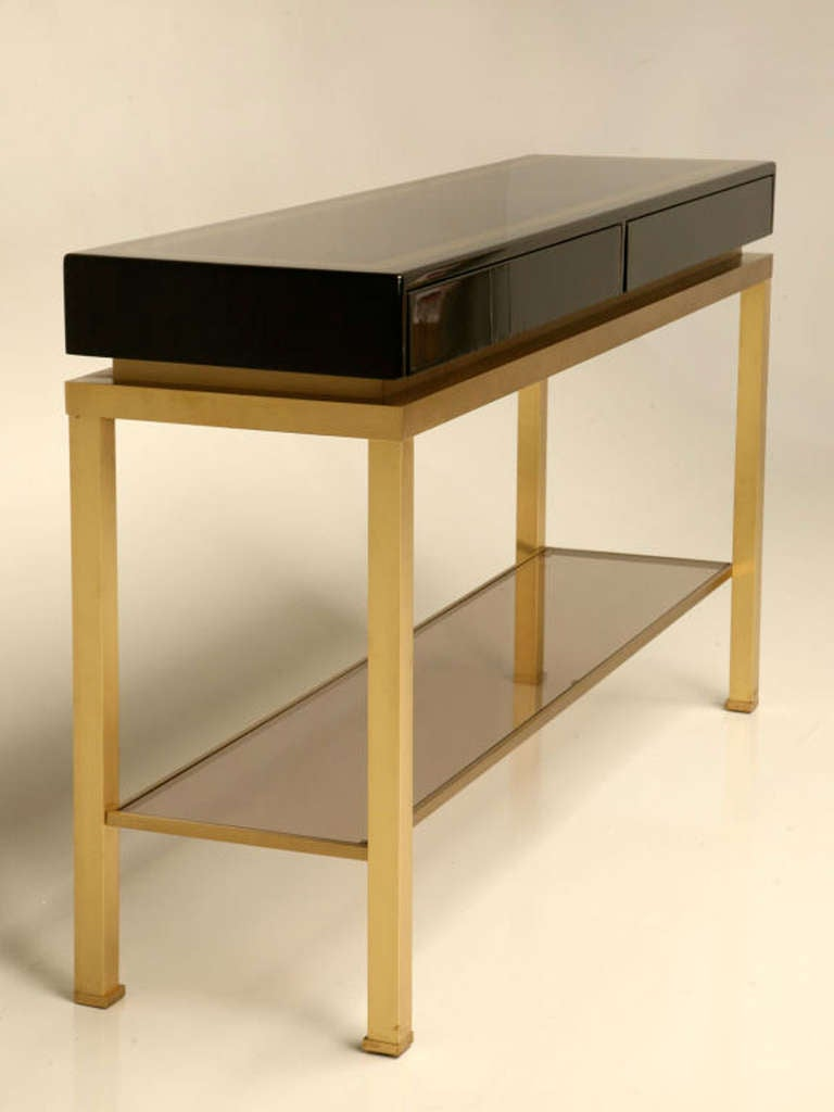 pair of consoles by guy lefevre for maison jansen at 1stdibs. Black Bedroom Furniture Sets. Home Design Ideas
