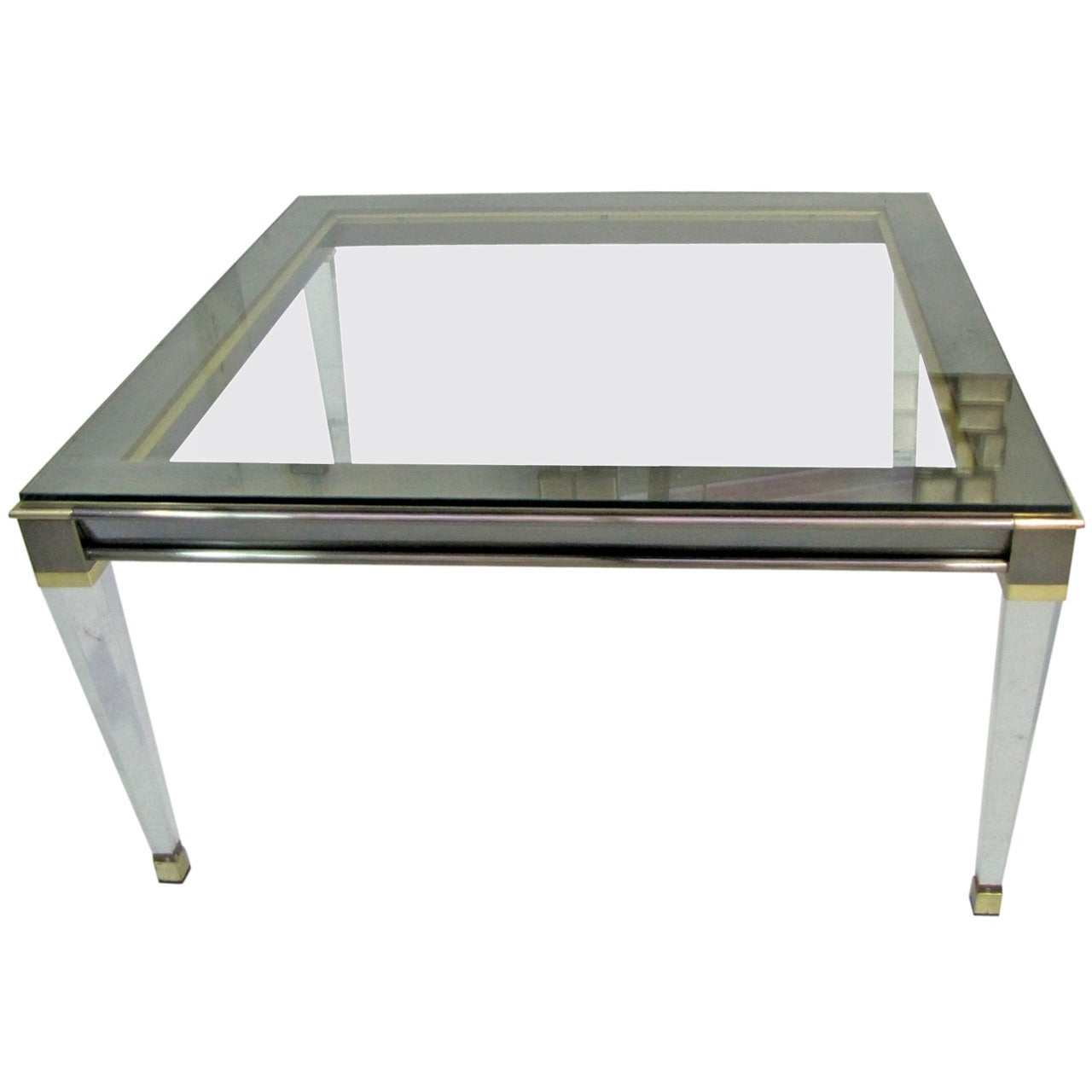 Coffee Table or End Table by Belgo Chrome, Belgium, circa 1970