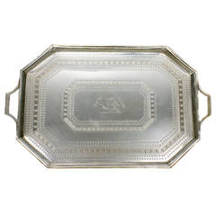 Magnificent Sterling Tray by Edward Hutton, London, circa 1884