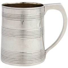 Georgian Sterling Mug or Cann by Hester Bateman, London, 1787