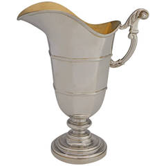 Art Deco .950 Silver French Wine Pitcher