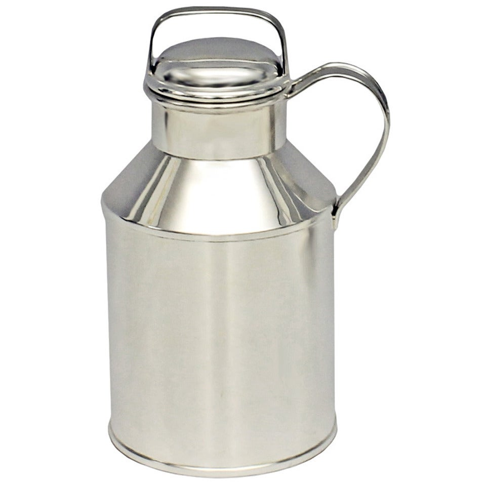 Rare Art Deco Sterling Milk Can Cocktail Shaker