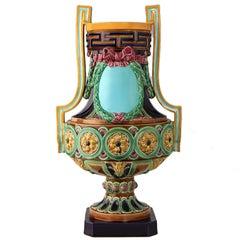 Huge Minton Majolica Vase