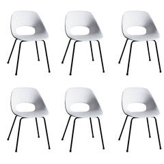 Set of 6 Tulipe chairs by Pierre Guariche - Steiner edition - 1953