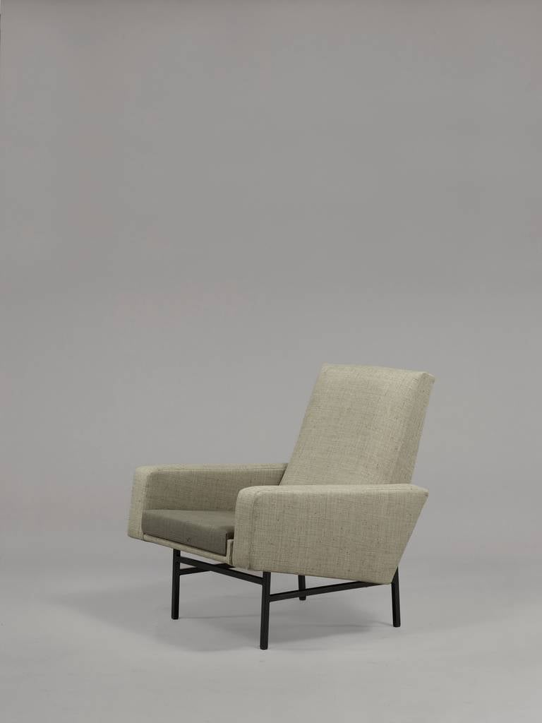 pair of armchairs 645 by arp steiner edition 1955 for. Black Bedroom Furniture Sets. Home Design Ideas