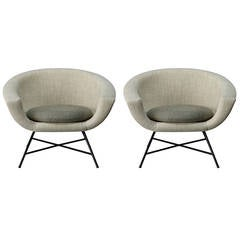 Pair of armchairs 58 by Dangles & Defrance - Burov edition - 1958