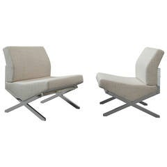Pair of Chairs by Pierre Guariche, Sieges Temoins Edition, 1959-1960