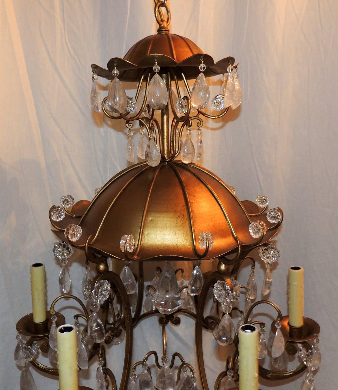Wonderful Baguès Gold Gilt Pagoda Rock Crystal Vintage