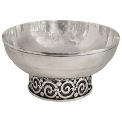 Wonderful Tiffany & Co. Sterling Silver, Pierced Footed Centerpiece Bowl