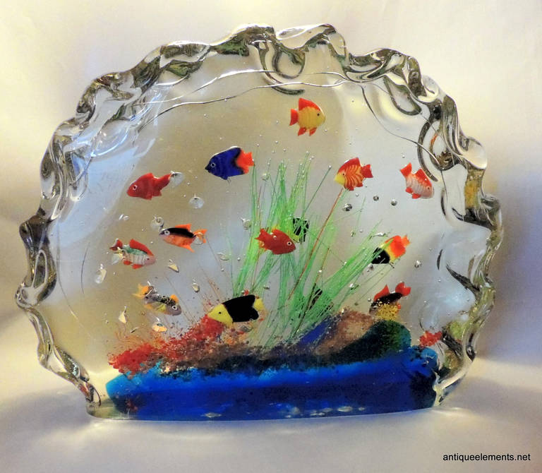 a rare and large murano glass aquarium glass fish. Black Bedroom Furniture Sets. Home Design Ideas