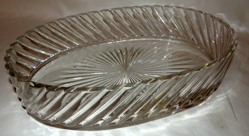 Baccarat Cut Crystal Dore Bronze Mounted Centerpiece At