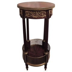 Very Fine 19th Century French Rosewood and Mahogany Ormolu-Mounted Table