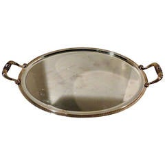 Outstanding Christolfe Silver Plate Oval Double Handled Over Sized Serving Tray