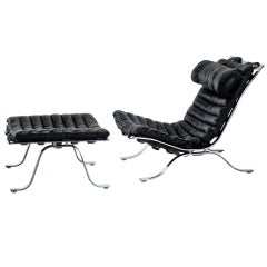 Ari Lounge Chair and Ottoman by Arne Norell