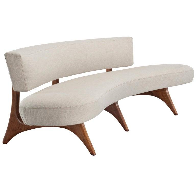 Curved Floating Sofa: Vladimir Kagan Sofa At 1stdibs